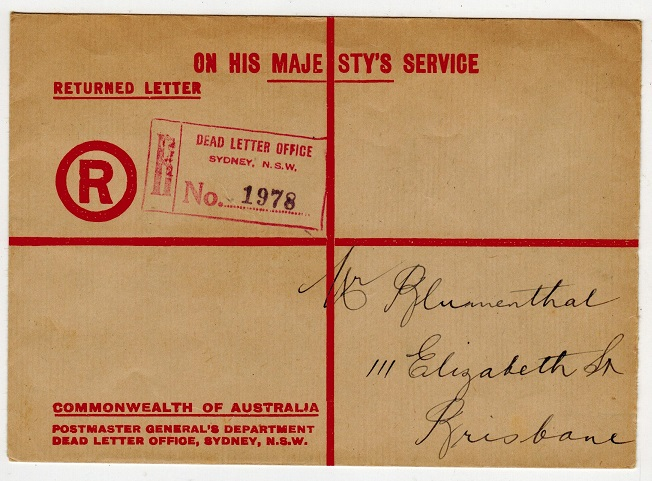 AUSTRALIA - 1935 use of scarce red on buff O.H.M.S.