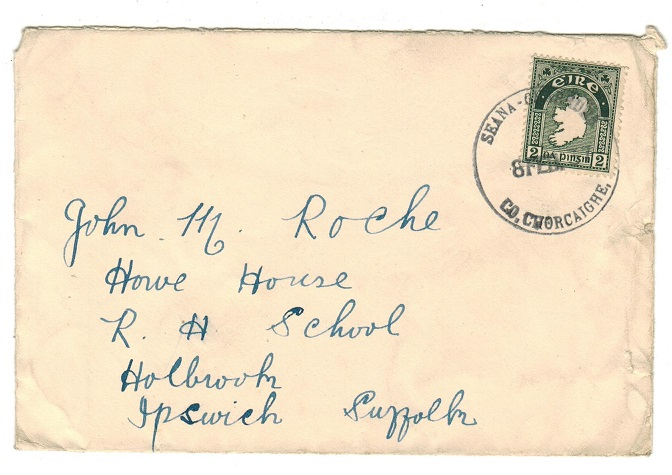 IRELAND - 1937 2d rate cover to UK used at SEANA GHARDNA.