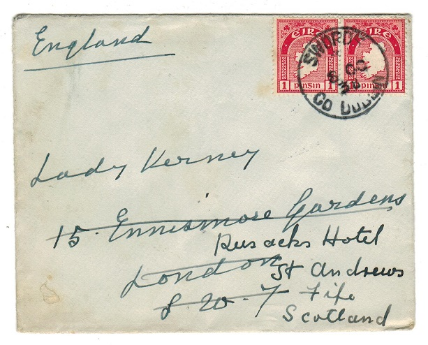 IRELAND - 1938 1d rate cover to UK used at SWORDS.