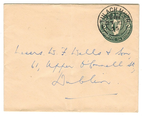 IRELAND - 1935 2d green PSE to Dublin used at TULACH MHOR.  H&G 10.