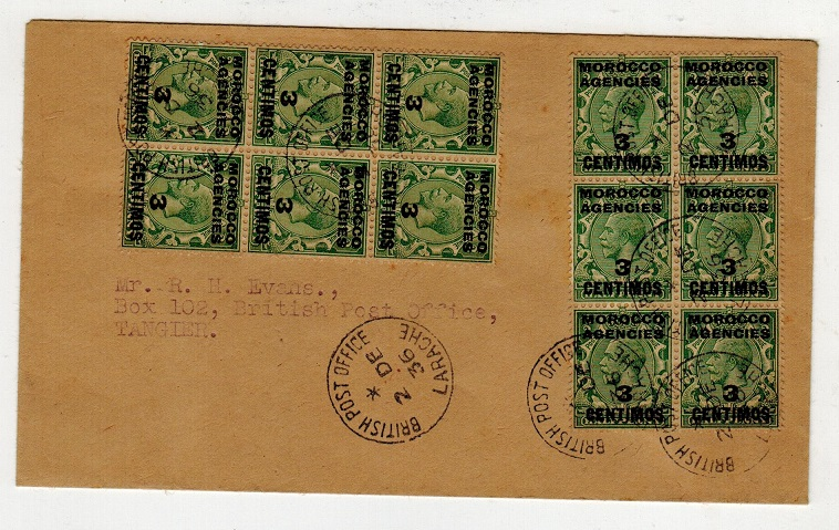 MOROCCO AGENCIES - 1936 local cover used at LARACHE.