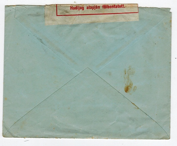 HUNGARY - Cover to Denmark via the RED CROSS with ZENS h/s on front