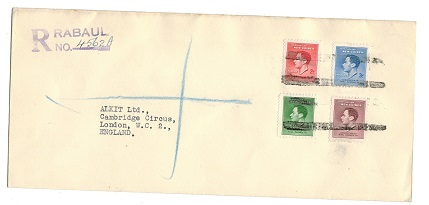 PAPUA - 1937 (circa) registered cover to UK with