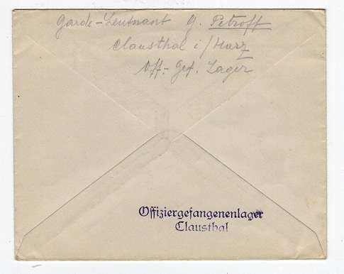 GERMANY - WW2 stampless cover to Denmark.