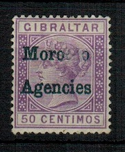 MOROCCO AGENCIES - 1898 50 bright violet mint with MISSING