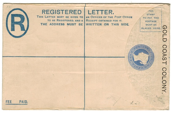 GOLD COAST - 1892 2d RPSE (size G) unused.  H&G 3a.