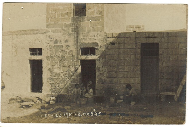 MALTA - 1910 (circa) real photo postcard unused marked