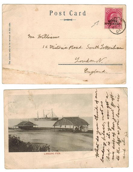 SOMALILAND - 1904 postcard to UK bearing KEDWVII 1a red tied LONDON on arrival.