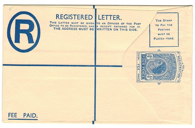 FALKLAND ISLANDS - 1960 4d RPSE (size F) unused.  H&G 4.