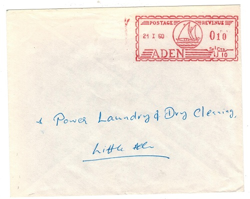 ADEN - 1960 10c meter mark cover used locally.