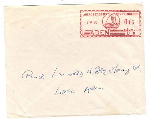 ADEN - 1960 15c meter mark cover used locally.