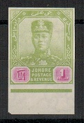 MALAYA (Johore) - 1910 $1 IMPERFORATE PLATE PROOF (SG type 33).