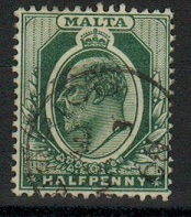 MALTA - 1903 1/2d green cancelled ZURRICO.  SG 38.