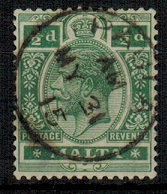 MALTA - 1914 1/2d green cancelled PAULA.  SG 71.
