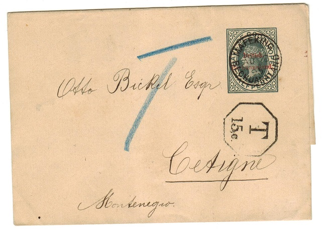 BECHUANALAND - 1889 1/2d grey postal stationery wrapper to Germany used at MAFEKING.  H&G 5.