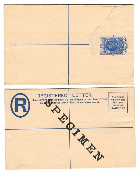 ST.VINCENT - 1923 3d ultramarine RPSE unused with SPECIMEN on reverse.  H&G 5.