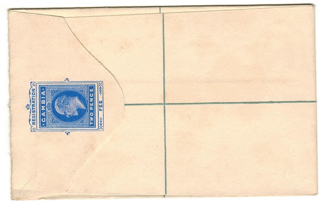 GAMBIA - 1902 2d ultramarine RPSE (size F) unused. H&G 1.