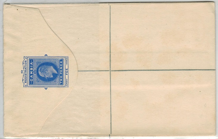 GAMBIA - 1902 2d ultramarine RPSE (size G) unused.  H&G 1a.