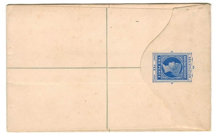 NIGER COAST - 1897 2d ultramarine RPSE (size G) unused.  H&G 5.