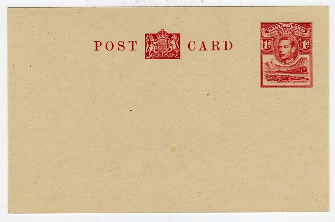 BASUTOLAND - 1937 1d red PSC unused.  H&G 4.