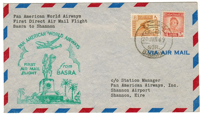 IRAQ - 1949 first flight cover to Ireland.