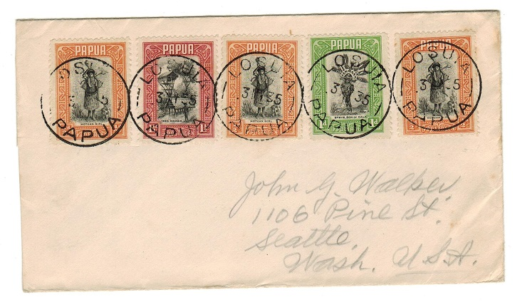PAPUA - 1935 cover to USA used at LOSUIA.