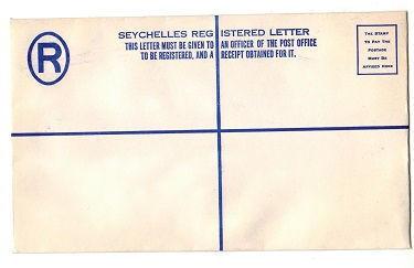 SEYCHELLES - 1960 (circa) dark blue un-denominated RPSE (220x120mm) unused.