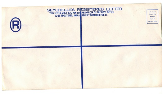 SEYCHELLES - 1960 (circa) dark blue un-denominated RPSE (291x152mm) unused.