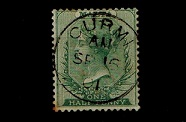 MALTA - 1885 1/2d green (SG 20) cancelled by central CURMI cds.