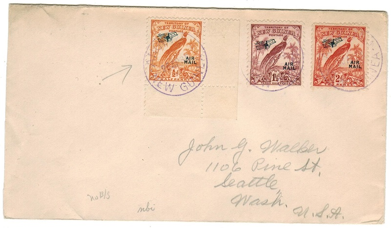 NEW GUINEA - 1935 cover to USA used at ANGORAM/NEW GUINEA.