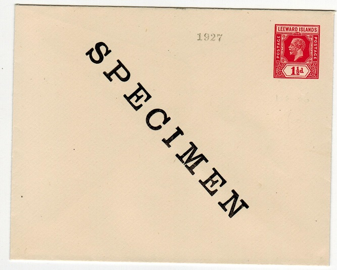 LEEWARD ISLANDS - 1926 1 1/2d red (ex archives) PSE SPECIMEN.  H&G 6.