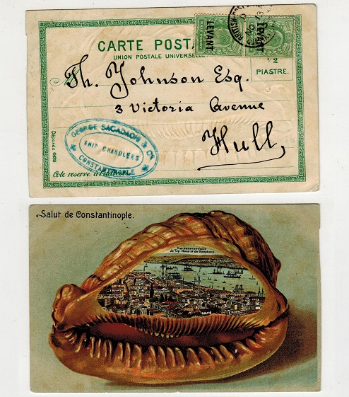 BRITISH LEVANT - 1905 postcard use from CONSTANTINOPLE.