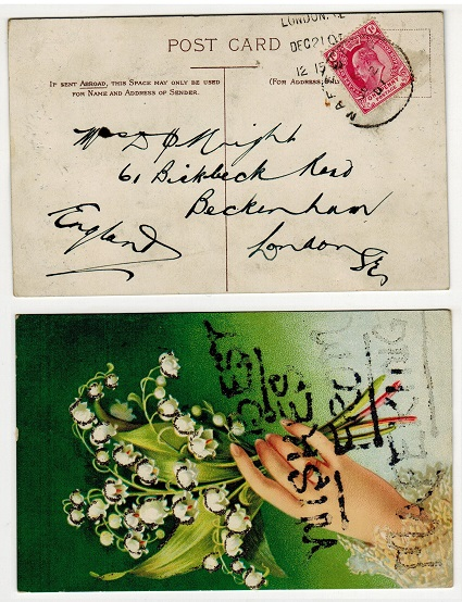 BECHUANALAND - 1901 1d rate postcard to UK with MAFEKING