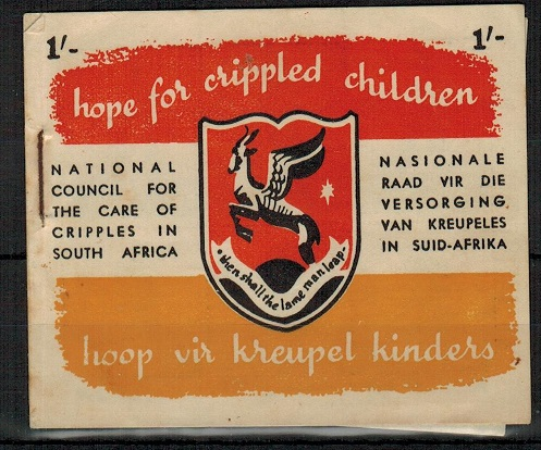 SOUTH AFRICA - 1947 1/- charity fund BOOKLET for crippled children.