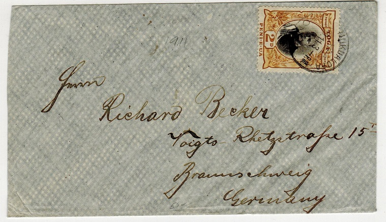 TONGA - 1911 2d rate cover to Germany used at NUKUALOFA.