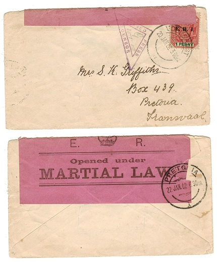 TRANSVAAL - 1902 OPENED UNDER MARTIAL LAW