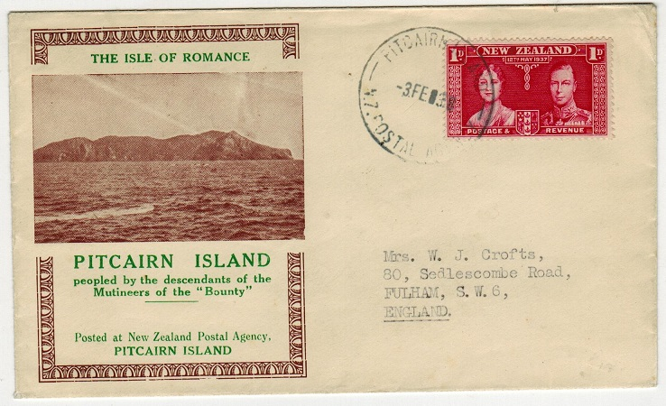 PITCAIRN ISLANDS - 1938 illustrated 1d
