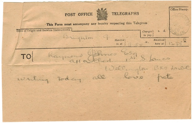 IRELAND - 1930 use of TELEGRAM form.