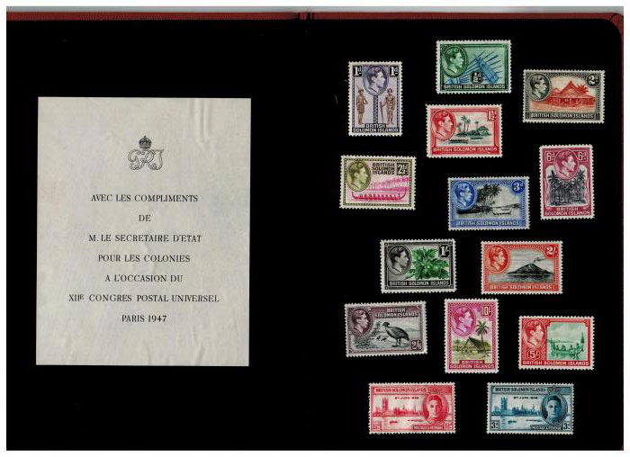 SOLOMON ISLANDS - 1947 UPU folder.
