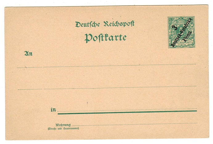 TANGANYIKA (German) - 1896 5pfg green PSC unused.  H&G 5.