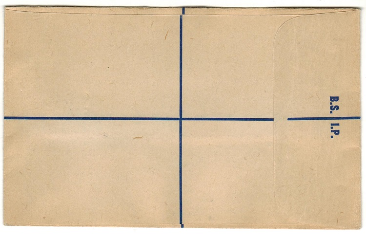 SOLOMON ISLANDS - 1950 (circa) blue on buff FORMULA registered stationery envelope unused.