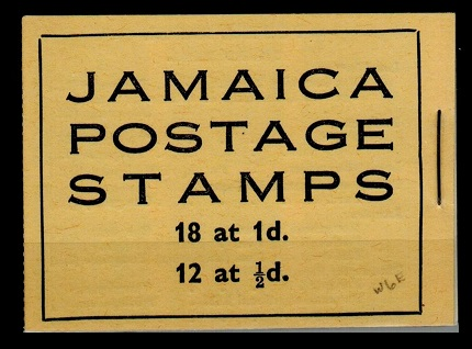 JAMAICA - 1952 2/- yellow BOOKLET stapled at right.  SG SB13.