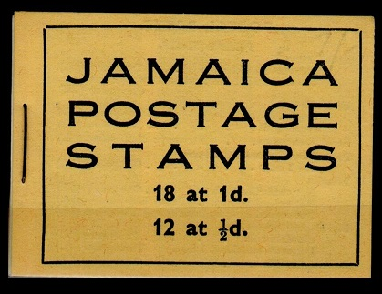 JAMAICA - 1952 2/- yellow BOOKLET stapled at left.  SG SB13.