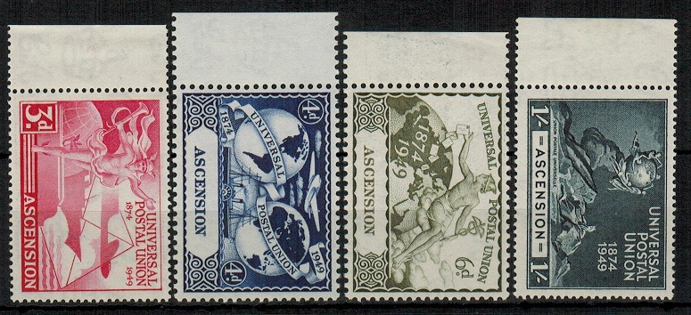 ASCENSION - 1949 UPU set mint.  SG 52-55.