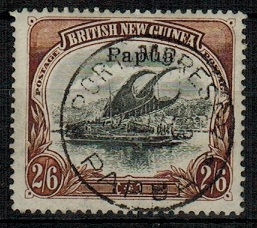 PAPUA - 1906 2/6d black and brown fine used example on thin paper.  SG 45a.