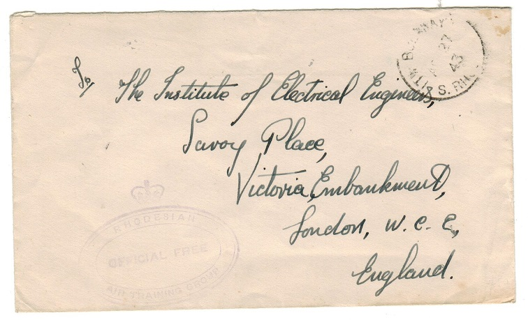 SOUTHERN RHODESIA - 1943 stampless