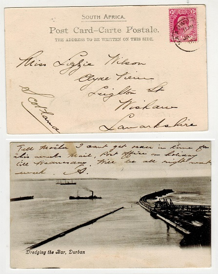 CAPE OF GOOD HOPE - 1905 1d rate postcard to UK used at NAAUWPOORT.