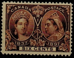 Canada - 1897 6c brown
