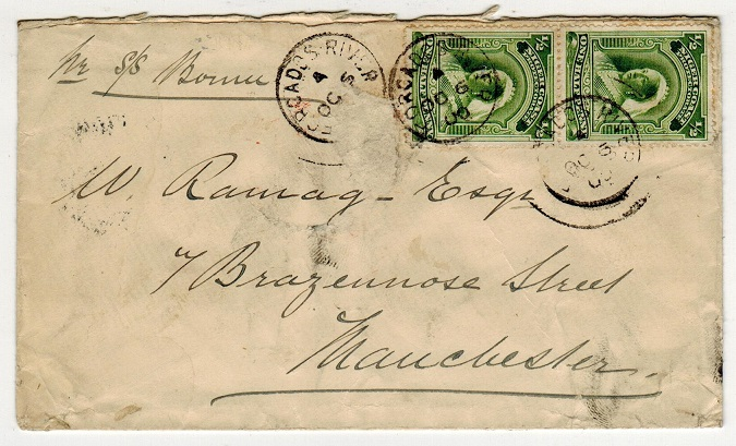 NIGER COAST - 1900 1d rate cover to UK used at FORCADOS RIVER.