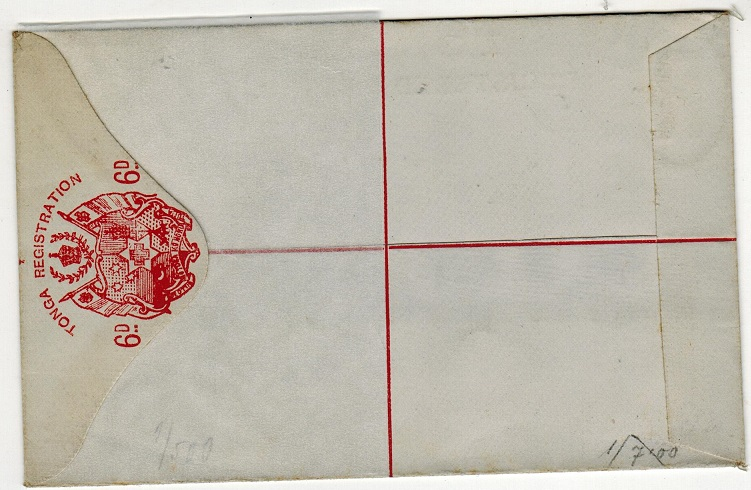 TONGA - 1891 6d red RPSE unused.  H&G 1.